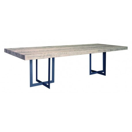 Table de salle a manger carree avec pied central maison for Table salle a manger rectangulaire
