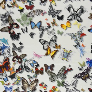 Tissu Butterfly opalin Parade Christian Lacroix