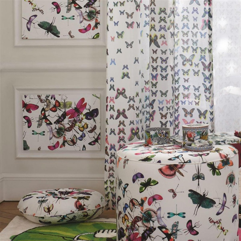 tissu mariposa christian lacroix d co en ligne tissus. Black Bedroom Furniture Sets. Home Design Ideas