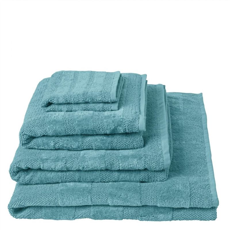 drap de bain coniston turquoise designers guild d co en ligne draps de bain. Black Bedroom Furniture Sets. Home Design Ideas