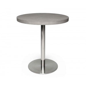 Table Bistrot Béton/Inox ronde