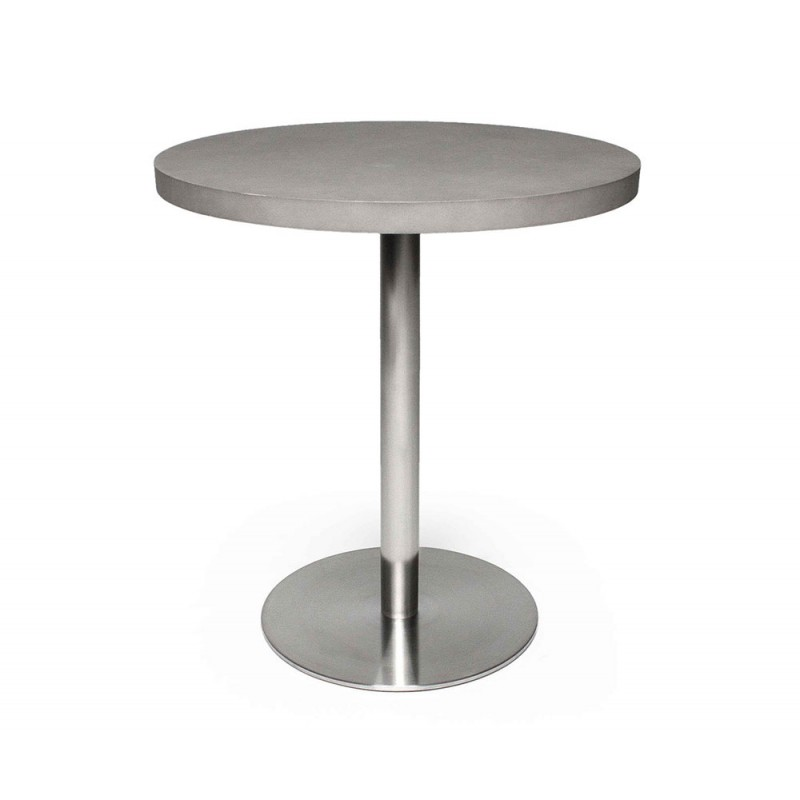 Table Bistrot B Ton Inox Ronde D Co En Ligne Tables De Salle A Manger Design