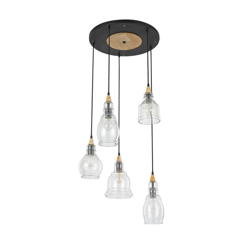 suspension gretel ronde ideal lux d co en ligne suspensions lustres design. Black Bedroom Furniture Sets. Home Design Ideas