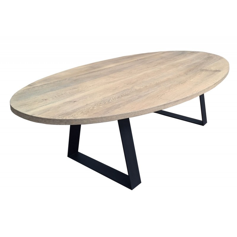 Table de salle manger ovale topaze classic d co en for Salle a manger table ovale