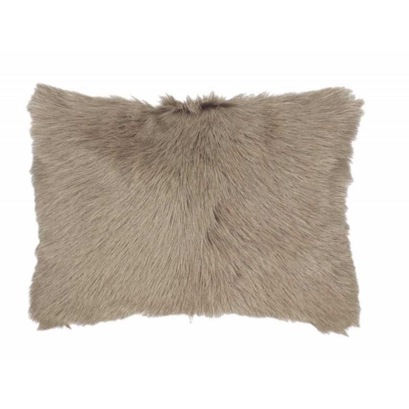 coussin fourrure caprino taupe now 39 s home d co en ligne. Black Bedroom Furniture Sets. Home Design Ideas