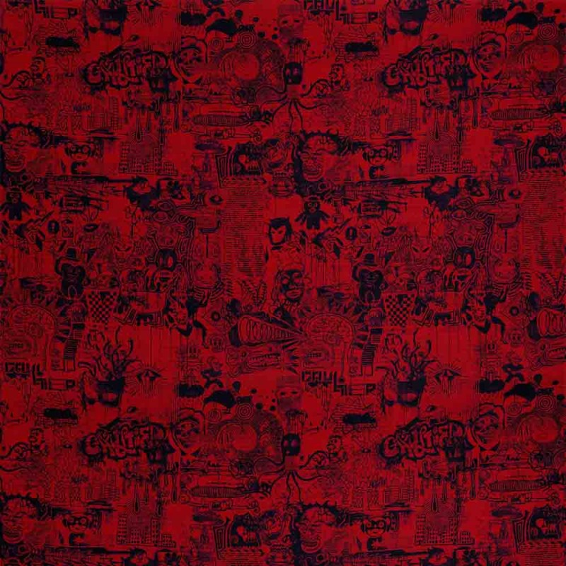 tissu street rouge jean paul gaultier d co en ligne tissus. Black Bedroom Furniture Sets. Home Design Ideas