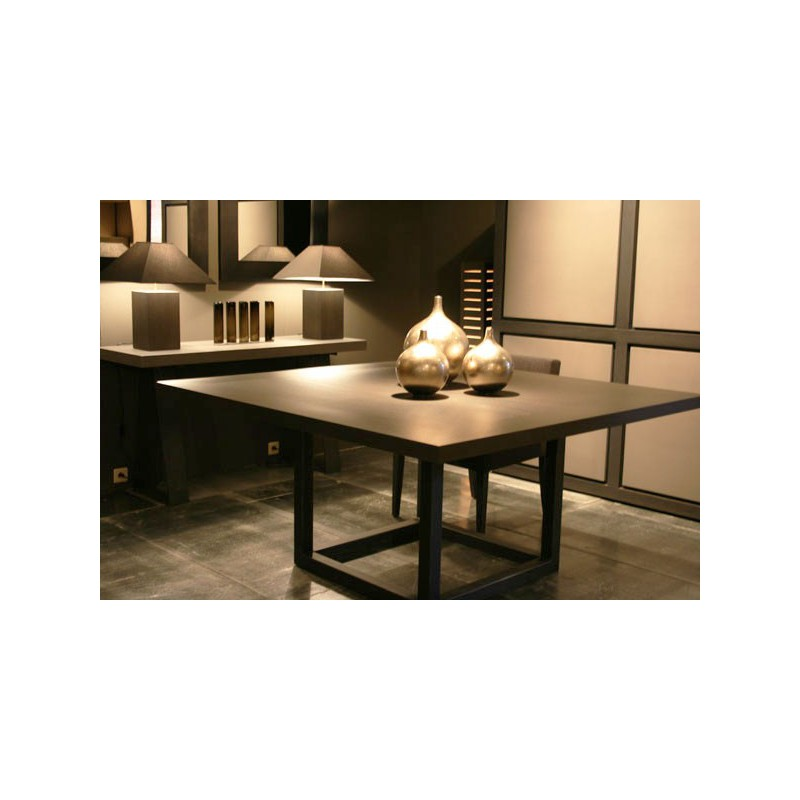 Table de salle manger zoe carr e 9 finitions ph - Table de salle a manger haute ...
