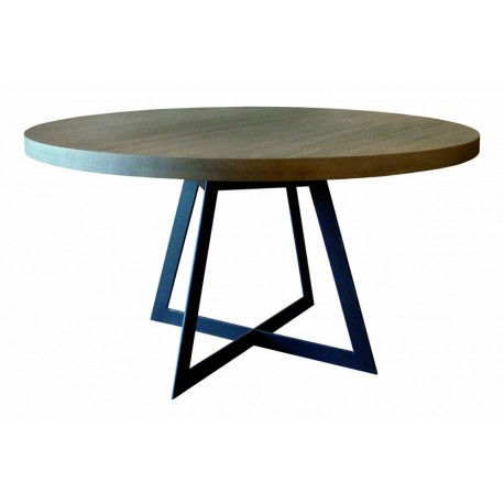 Table de salle manger baron ronde ph collection d co for Table a manger ronde bois