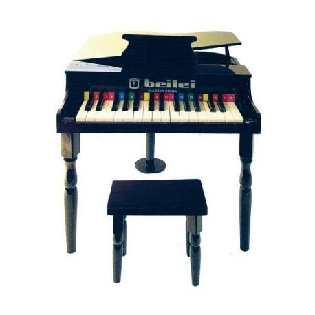 petit piano et tabouret noir protocol d co en ligne instruments de musique enfant. Black Bedroom Furniture Sets. Home Design Ideas
