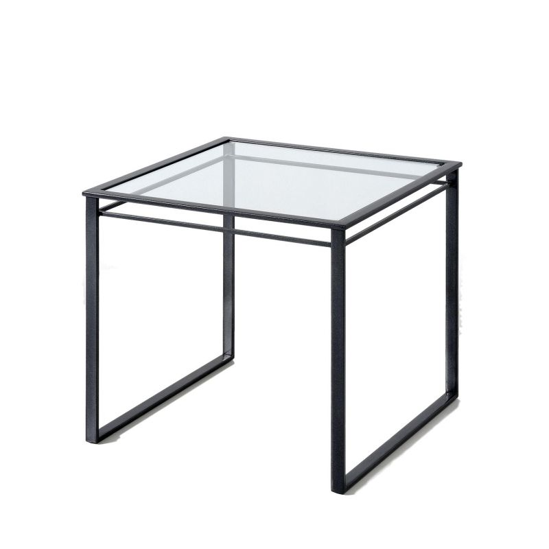 Bout de canap graphic anthracite verre un autre regard d co en ligne bou - Table bout de canape en verre design ...