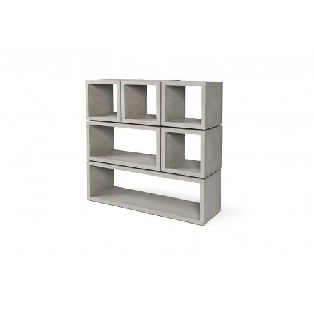 cubes de rangement b ton monobloc modulables lyon b ton d co en ligne bibliotheques design. Black Bedroom Furniture Sets. Home Design Ideas