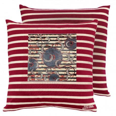 coussin origine rouge jean paul gaultier d co en ligne coussins. Black Bedroom Furniture Sets. Home Design Ideas