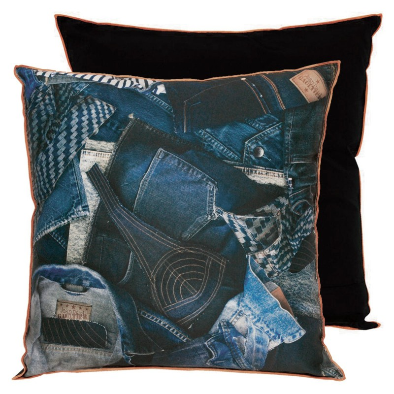 coussin america indigo jean paul gaultier d co en ligne coussins. Black Bedroom Furniture Sets. Home Design Ideas