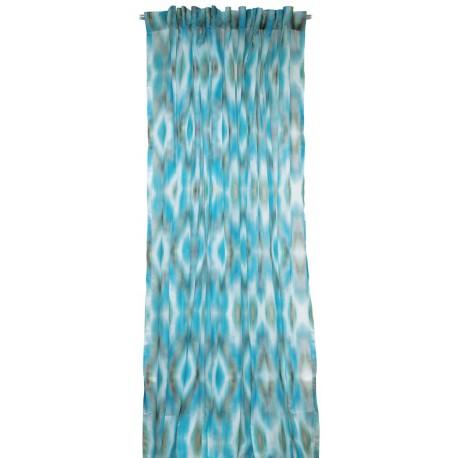 rideau voilage miami bleu lelievre d co en ligne rideaux design. Black Bedroom Furniture Sets. Home Design Ideas