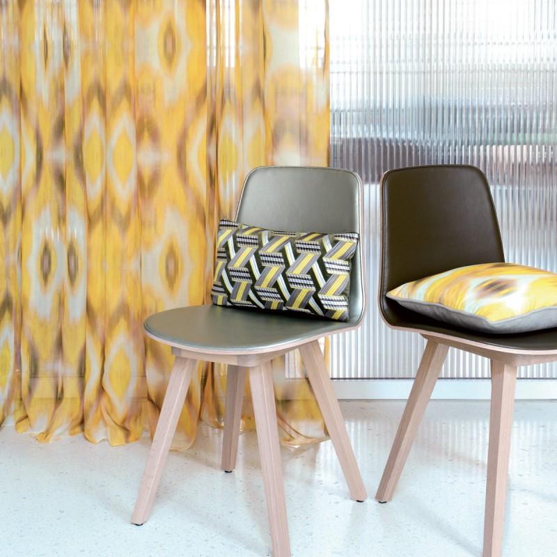 Rideau voilage miami vert lelievre d co en ligne for Deco design en ligne