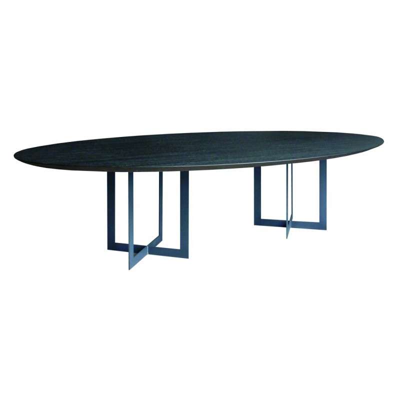 Table de salle a manger ovale maison design for Table salle a manger hanna but