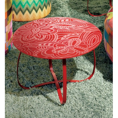 Table Holly Glass rouge, Missoni Home