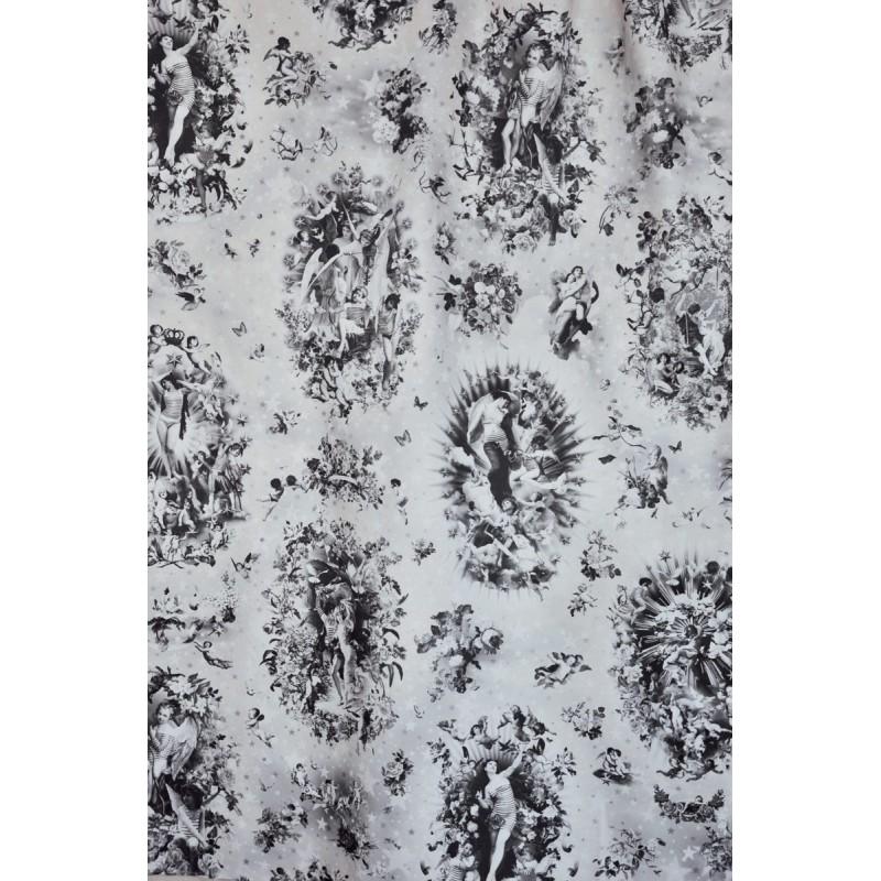 tissu angelots noir jean paul gaultier d co en ligne tissus. Black Bedroom Furniture Sets. Home Design Ideas