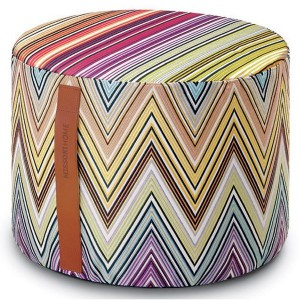 Pouf Kew 59 cylindre by Missoni Home