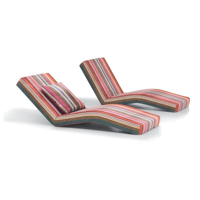 chaise longue matelas jalamar libertad missoni home d co en ligne tabourets bancs futons. Black Bedroom Furniture Sets. Home Design Ideas