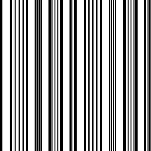 Tissu Rainbow Exterieur noir/blanc, Missoni Home