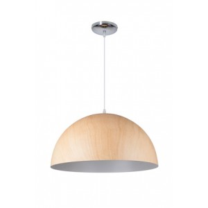 Suspension Cupula Wood clair Ø50, Linea Verdace