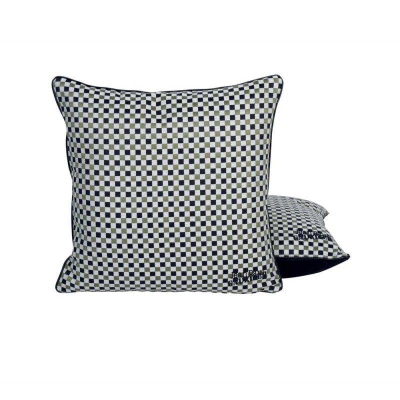 coussin apog e kaki jean paul gaultier d co en ligne coussins. Black Bedroom Furniture Sets. Home Design Ideas