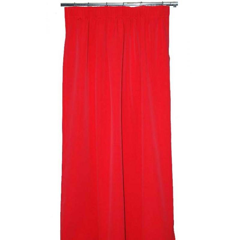 rideau empreinte rouge lelievre d co en ligne rideaux design. Black Bedroom Furniture Sets. Home Design Ideas