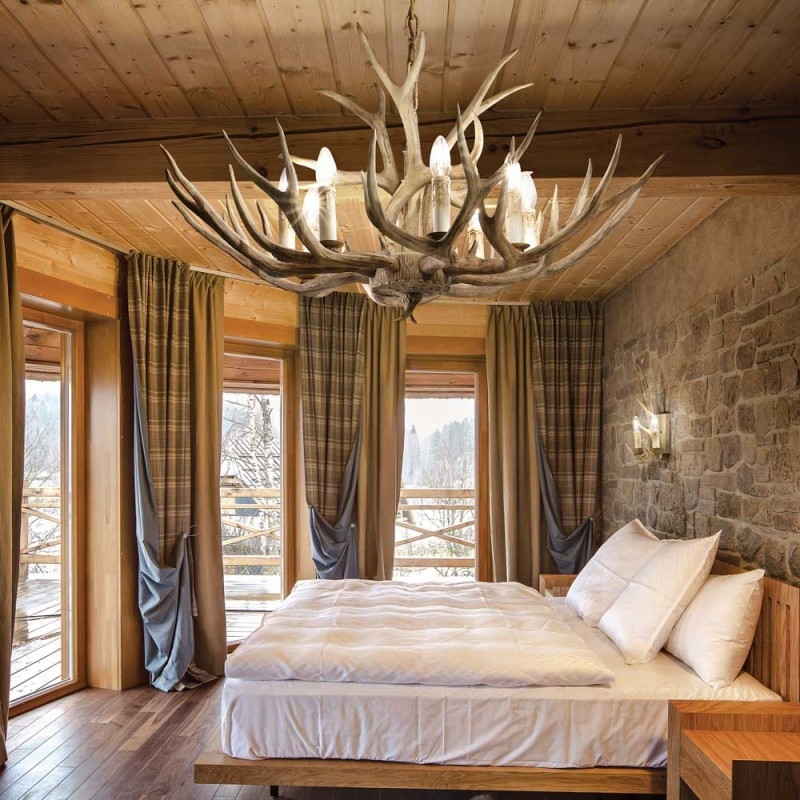 Suspension Chalet 12 Ideal Lux Lustre Montagne