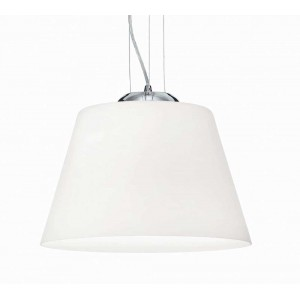 Suspension Cylinder ronde blanche Ideal Lux,