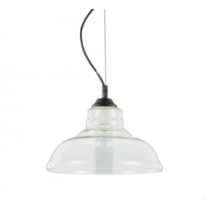 Suspension Bistrot plate transparente, Ideal Lux