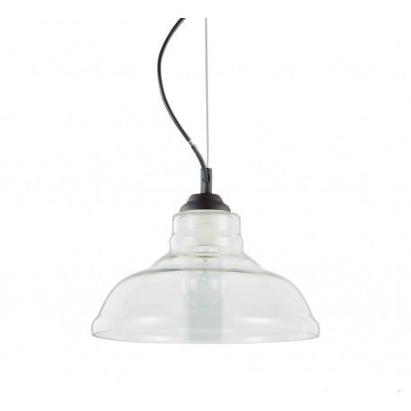 suspension bistrot plate transparente ideal lux d co en. Black Bedroom Furniture Sets. Home Design Ideas