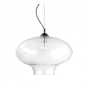 Suspension Bistrot ronde transparente, Ideal Lux