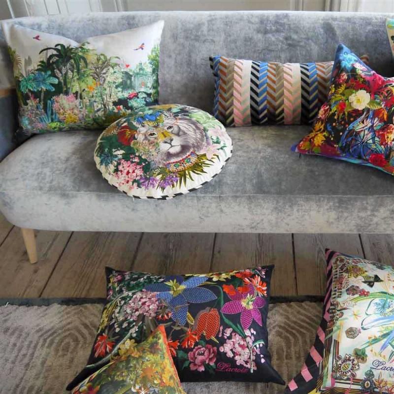 coussin jungle king opiat christian lacroix d co en ligne coussins. Black Bedroom Furniture Sets. Home Design Ideas