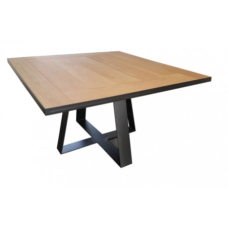 Table de salle manger tolbiac rallonges d co en for Table carree rallonge design