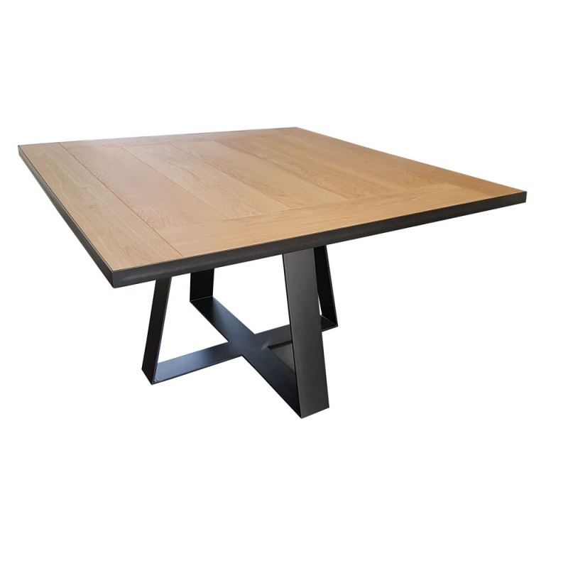 Table de salle manger carr e tolbiac rallonges d co for Table a manger carre extensible