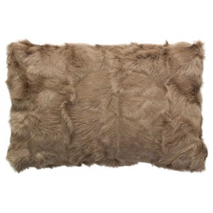 Coussin fourrure Goat Taupe, Now's Home