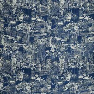 Tissu Street Indigo, Jean Paul Gaultier