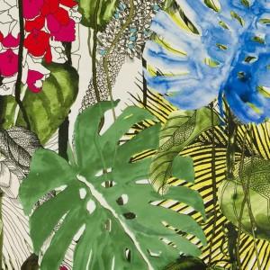 Tissu Jardin Exo'Chic Bougainvillier, Christian Lacroix