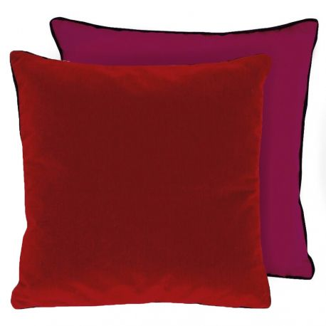 Coussin Piccadilly rouge Lelievre