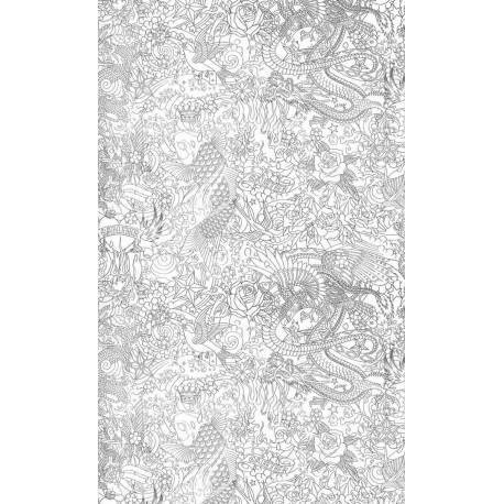 Papier Peint Horimono Argent Jean Paul Gaultier Deco En Ligne