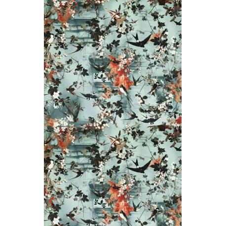 papier peint hirondelle et jean paul gaultier d co en ligne papiers peints design. Black Bedroom Furniture Sets. Home Design Ideas