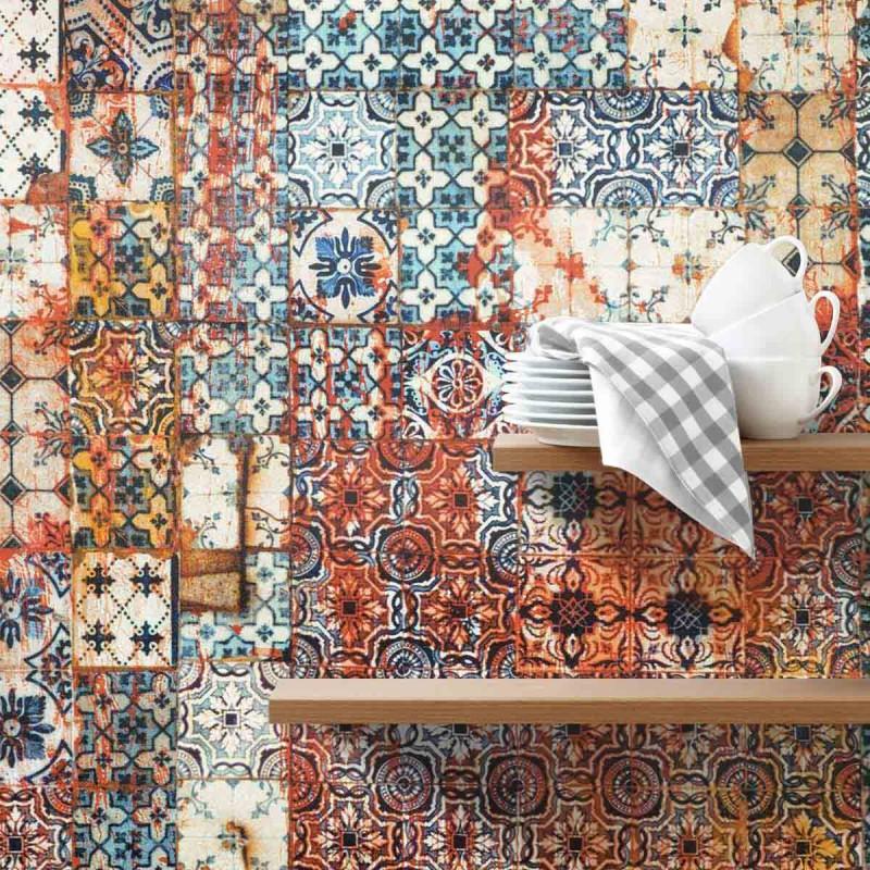 papier peint porto mandarine jean paul gaultier d co en. Black Bedroom Furniture Sets. Home Design Ideas