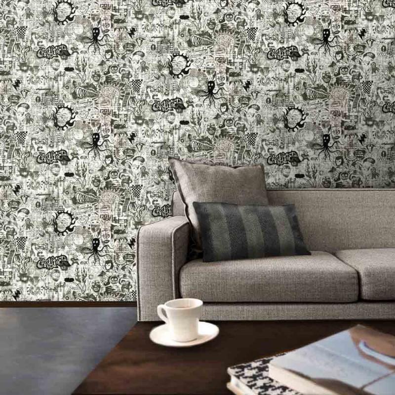 papier peint ernest jean paul gaultier d co en ligne papiers peints design. Black Bedroom Furniture Sets. Home Design Ideas