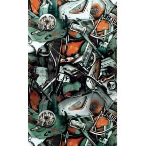 Papier peint Carambolage Pétrole, Jean Paul Gaultier