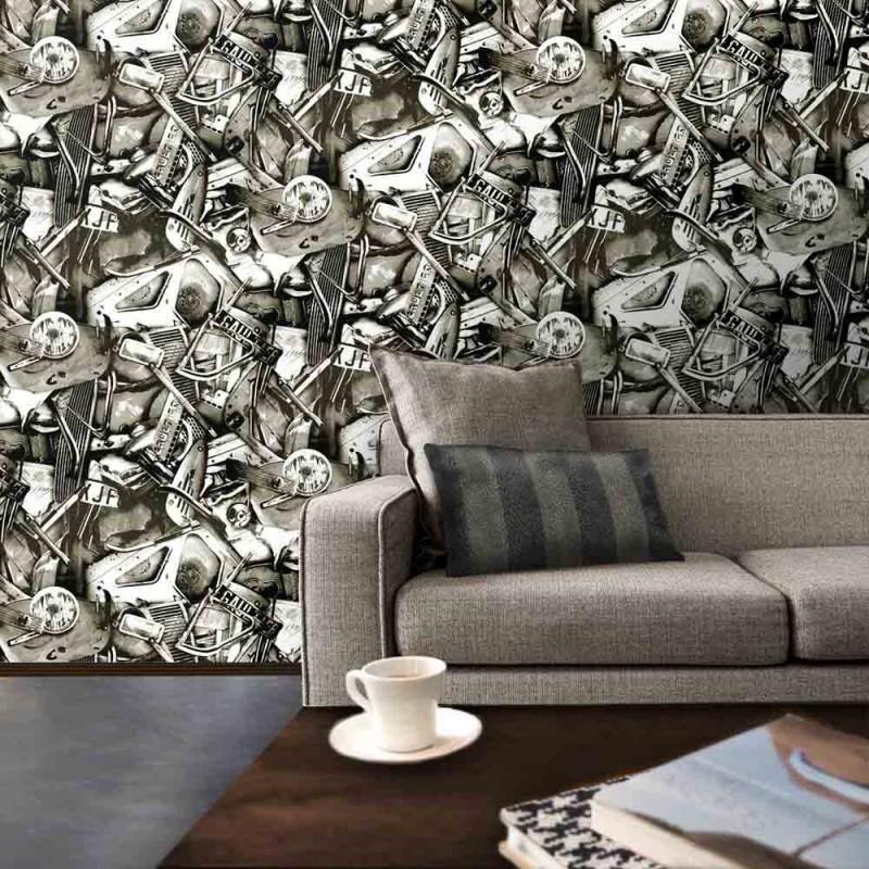papier peint c sar jean paul gaultier d co en ligne. Black Bedroom Furniture Sets. Home Design Ideas