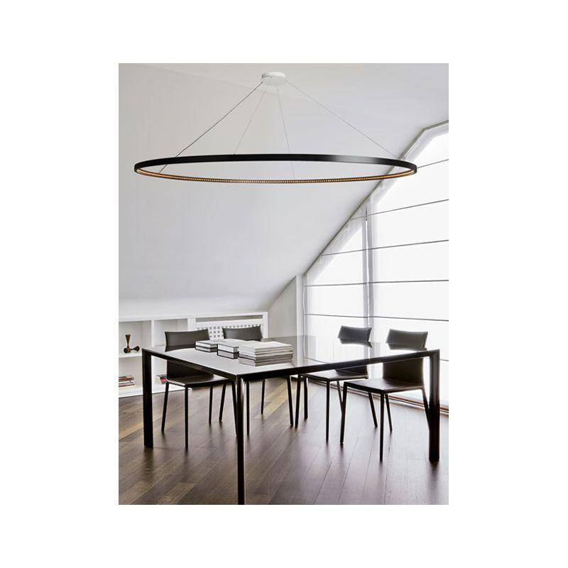 suspension omega noire 200 le deun luminaires d co en ligne suspensions lustres design. Black Bedroom Furniture Sets. Home Design Ideas