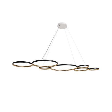 suspension ultra 8 noire le deun luminaires d co en ligne suspensions lustres design. Black Bedroom Furniture Sets. Home Design Ideas