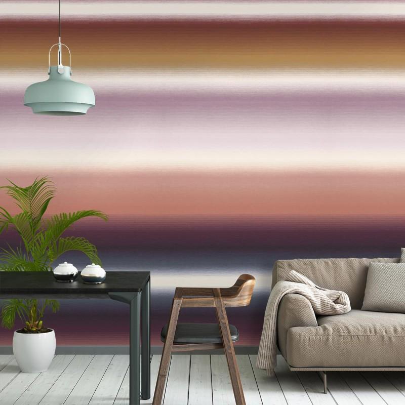 panneau grande largeur papier peint riga sfumata parme. Black Bedroom Furniture Sets. Home Design Ideas