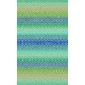 Panneau Grande Largeur papier peint Zig Zag Sfumato Bleu/Vert, Missoni Home